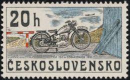 Czechoslovakia / Stamps (1975) 2154: From History Of Cz. Motorcycles (CZ 150, Strakonice 1951); Painter: Kamil Lhotak