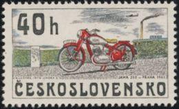 Czechoslovakia / Stamps (1975) 2155: From History Of Cz. Motorcycles (JAWA 250, Praha 1945); Painter: Kamil Lhotak