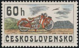 Czechoslovakia / Stamps (1975) 2156: From History Of Cz. Motorcycles (JAWA 175, Praha 1935); Painter: Kamil Lhotak