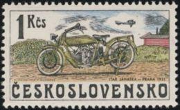 Czechoslovakia / Stamps (1975) 2157: From History Of Cz. Motorcycles (Itar Janatka, Praha 1921); Painter: Kamil Lhotak