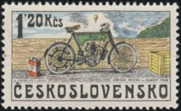 Czechoslovakia / Stamps (1975) 2158: From History Of Cz. Motorcycles (Orion Michl, Slany 1903); Painter: Kamil Lhotak