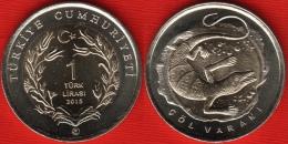"""Turkey 1 Lira 2015 """"Desert Monitor"""" BiMetallic UNC - Turquie"""