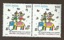Fauna Mamíferos Elefantes Animales Pintura Animal Elefante Mamífero Infancia Arte Infantil Dia Del Nino India Inde 1993 - Elefantes