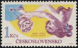 Czechoslovakia / Stamps (1975) 2162: Space Exploration (Satellite Aeros); Painter: Ivan Strnad - Astronomy