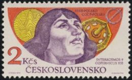 Czechoslovakia / Stamps (1975) 2163: Space Exploration (Satellite Intercosmos 9 - Copernicus); Painter: Ivan Strnad - Europe
