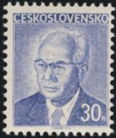 Czechoslovakia / Stamps (1975) 2165: Czechoslovak President Dr. Gustav Husak (1913-1991) - 30 H