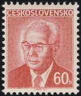Czechoslovakia / Stamps (1975) 2166: Czechoslovak President Dr. Gustav Husak (1913-1991) - 60 H