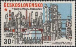 Czechoslovakia / Stamps (1975) 2167: Construction (chemical Industry - Slovnaft Bratislava); Painter: Jaroslav Lukavsky