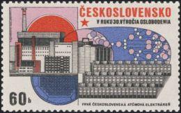 Czechoslovakia / Stamps (1975) 2168: Construction (first Czechosl. Nuclear Power Plant); Painter: Jaroslav Lukavsky