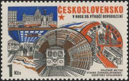 Czechoslovakia / Stamps (1975) 2169: Construction (The Prague Metro); Painter: Jaroslav Lukavsky