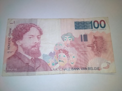 BELGUIM 1994 100 FRANCS  P-147  BANKNOTE LOC#A1058 - [ 2] 1831-...: Belg. Königreich