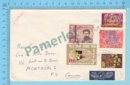 Viet-Nam (Par Avion,  Cover Hue 1967 To Montreal Canada  ) 2 Scans - Viêt-Nam