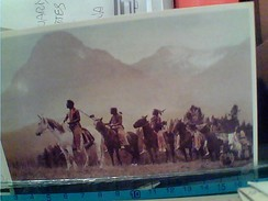 INDIEN INDIANI AMERICANI AMERIQUE CHEVAL GUERRIERS BLACKFOOT HORSES WARRIORS PASS FINDERS Da Foto 1915  N1990 FR6585 - Indiani Dell'America Del Nord
