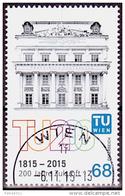 Austria Österreich 2015  200 Jahre TU Wien  USED / O / GESTEMPELT - 1945-.... 2nd Republic