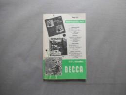 DECCA MARS NOUVEAUTES 1957 - Musik & Instrumente