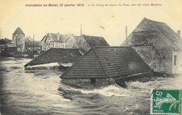 Inondation De Moret, 21 Janvier 1910 - Le Loing En Amont Du Pont Vers Les Vieux Moulins - Inondations