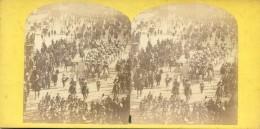 Photo- Stéreoscopique - Paris - Marche Du Boeuf Gras 1864 - Stereoscoop