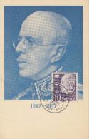 Carte  Maximum  1er  Jour  SUEDE   Roi  GUSTAV  V    STOCKHOLM   1947 - Maximumkarten (MC)