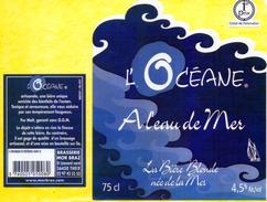 2 étiquettes Bières Bretonnes Autocollant Sur Support.. - Beer