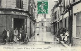 Montereau - Inondation De Janvier 1910 - Rue Des Chapeliers - Edition Milliet - Inondations