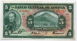 BOLIVIE : 5 Bolivianos 1928 (aunc+) - Bolivia