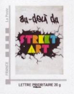 Timbre Adhésif / Au-delà Du Street Art / Provenant Du Collector Street Art - Francia
