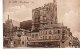 - FRANCE (89) - CPA Vierge SENS - Place Drapès (GRAND CAFE - SOCIETE GENERALE) - - Sens