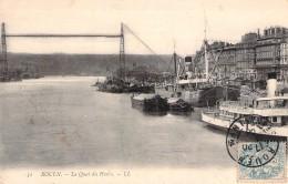 """Port De  Rouen Quai Du Havre  Bateau Danois """" Derinsborg """"  Danemark L.L Louis Lévy - Commerce"""