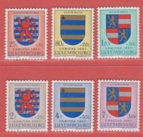1957 ** (sans Charn., MNH, Postfrisch)  Yv  534/9    Mi  575/80