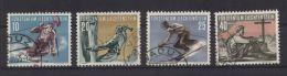 Liechtenstein - Sport-Satz (II) MiNr. 334-337  - Gestempelt