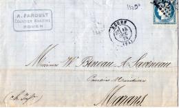 Lettre De Rouen à Marans - 1849-1876: Période Classique