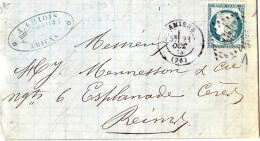 Lettre De Amiens à Reims - Postmark Collection (Covers)