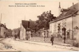 21. Pontailler Sur Saone. Entrée De Saint Jean Par L'avenue De La Gare - Autres Communes