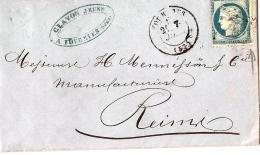 Lettre De Fourmies à Reims - Postmark Collection (Covers)