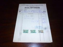 FF5 Facture Avec Timbres Fiscaux Ets Travaux Emenuiserie Raoul Deladrier La Bouverie 1956 - Belgique