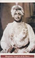 Maharaja  Bhupindar Singh  Of  PATIALA  State  Modern Photo  Post Card # 74673  Inde Indien India - Patiala