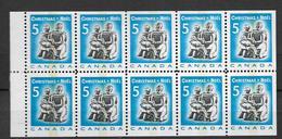 1968 MNH Canada Booklet Mi H-Bl 90 Postfris - Full Panes