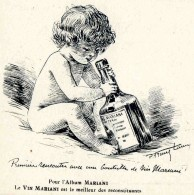ILLUSTRATEUR    ILL  473  /  LAMY    /  COLLECTION  VIN  MARIANI     CPA 9 X 14  VIERGE TBE - Autres Illustrateurs