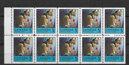 1969 MNH Canada Booklet Mi H-Bl 92 Postfris - Full Panes
