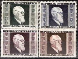 Österreich 1946: ANK 776- 779 * (Falz) Renner Gezähnt, ANK 7.- € - 1945-60 Neufs