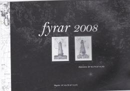 Åland Black Print Of 2008 Lighthouses (LAR1-A)