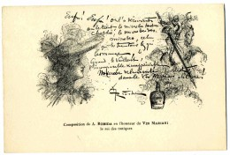 ILLUSTRATEUR    ILL  473  /  ROBIDA   /  COLLECTION  VIN  MARIANI     CPA 9 X 14  VIERGE TBE - Robida