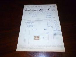 FF5 Facture Avec Timbres Fiscaux Matériaux Ets Léonce Ronval à La Bouverie 1956 - Belgique