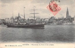 """Cpa Bateau Danois Identifié """" A.N.Nansen """" Dans  Port D´Anvers D.F.D.S Danemark B Et W Copenhague Coulé à Quiberon 1918 - Commercio"""