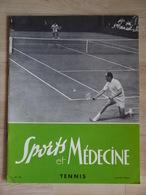 1964 SPORTS ET MEDECINE TENNIS NOMBREUSES PHOTO ROSEWALL COCHET PETRA BOROTRA LACOSTE LENGLEN  + CD - Sport