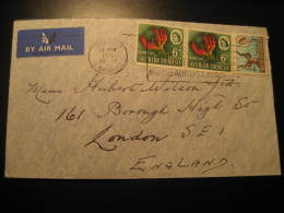 SALISBURY 1965 To London England 3 Stamp On Air Mail Cover Southern Rhodesia British Colonies - Southern Rhodesia (...-1964)