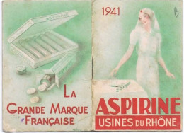 CALENDRIER  1941 ASPIRINE - Calendriers