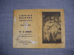 Petit Calendrier 1941  -  Librairie Moderne LE LORRAIN  -  LE PERREUX  -  94  -  Val De Marne - PUBLICITE - Calendriers