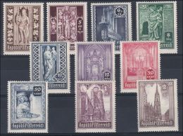 Österreich 1946: ANK 799- 808 ** Wiederaufbau Stephansdom, ANK 15.- € - 1945-60 Unused Stamps
