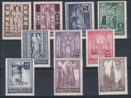 Österreich 1946: ANK 799- 808 ** Wiederaufbau Stephansdom, ANK 15.- € - 1945-.... 2. Republik